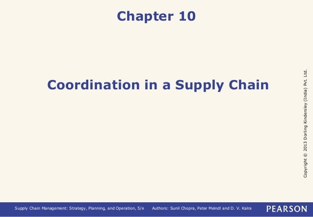 Copyright © 2013 Dorling Kindersley (India) Pvt. Ltd.  Chapter 10  Coordination in a Supply Chain  Supply Chain Management...