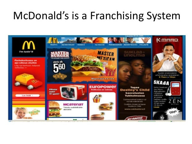 McDonald's is a Franchising System