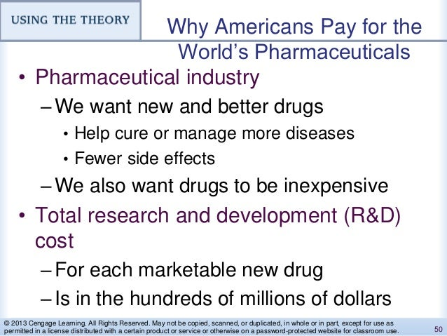 Why Americans Pay for the World's Pharmaceuticals • Pharmaceutical industry –We want new and better drugs • Help cure or m...