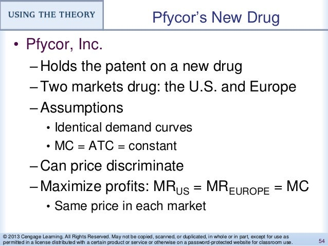 Pfycor's New Drug • Pfycor, Inc. –Holds the patent on a new drug –Two markets drug: the U.S. and Europe –Assumptions • Ide...