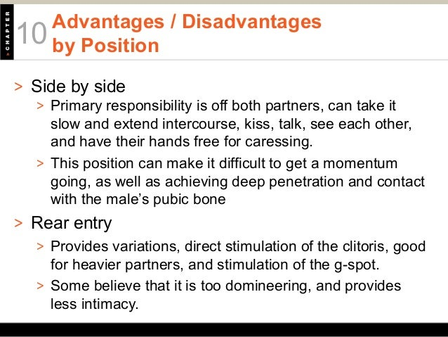 Advantage and disadvantage of anal sex