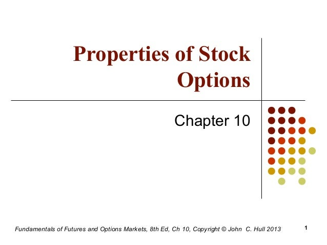 Chapter 10 properties of stock options