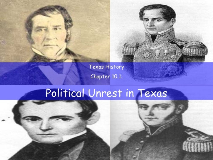 Texas History Chapter 10.1: Political Unrest in Texas