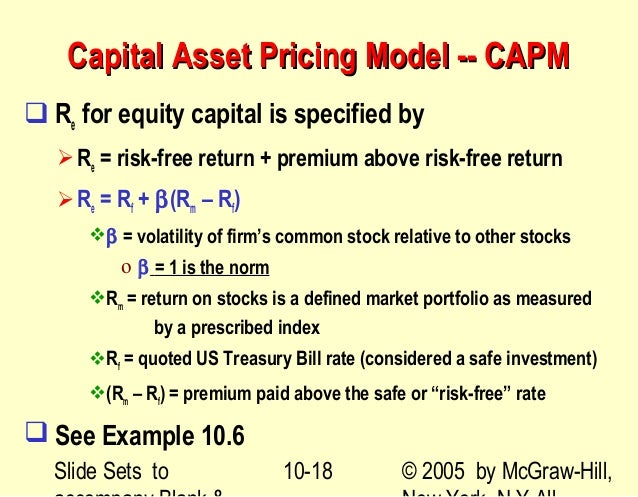 dividend growth model capital asset pricing model modern p Measuring the cost of capital in australia capital asset pricing model (capm) note that the e/p model is a variation of the dividend discount model.