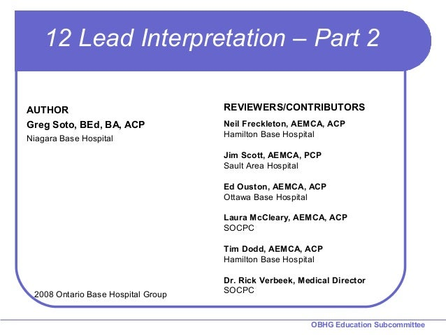 chapter 10 12 lead interpretation part 2 rh slideshare net Study Guide Template Study Guide Template