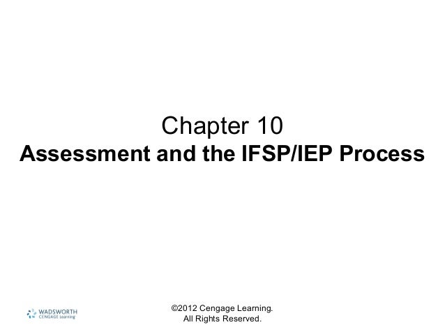©2012 Cengage Learning. All Rights Reserved. Chapter 10 Assessment and the IFSP/IEP Process