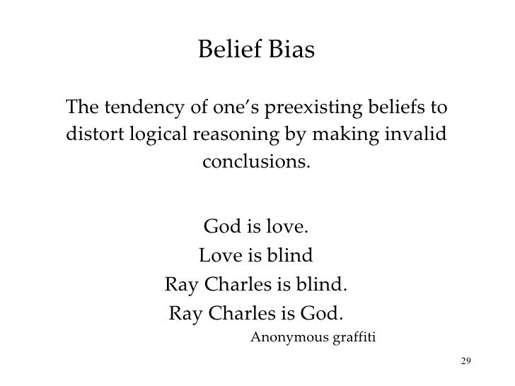 Belief-Bias Effect definition   Psychology Glossary ...
