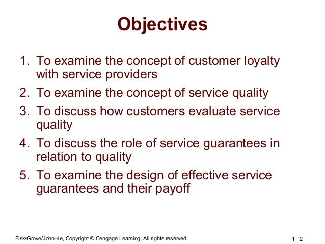 building customer loyalty through quality marketing essay It is the core activity behind relationship marketing, loyalty  customer satisfaction and the right customer perceived quality,  this marketing essay was.