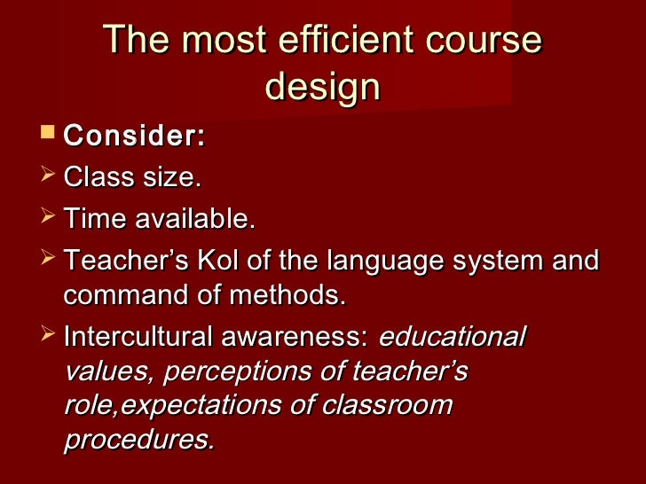 Chapter 10 Course Design
