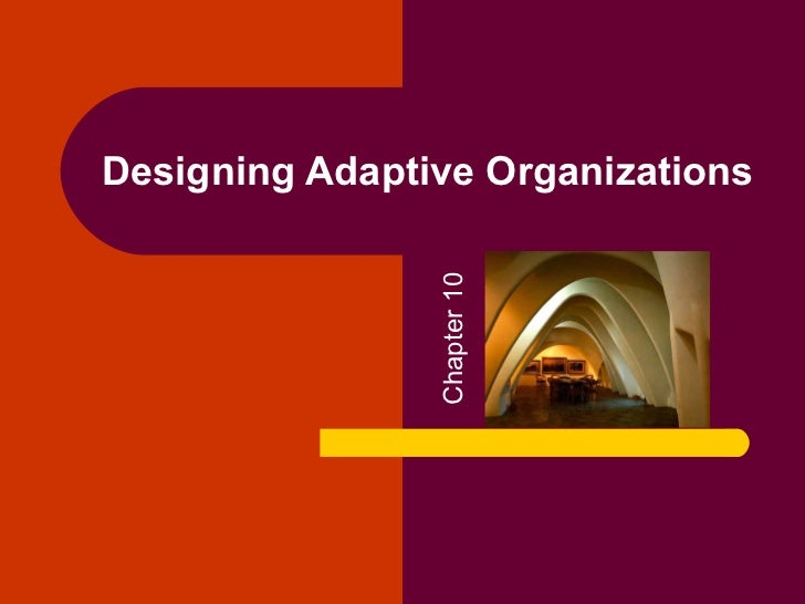 Designing Adaptive Organizations                Chapter 10