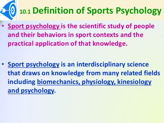 chapter 10 psychology and sports