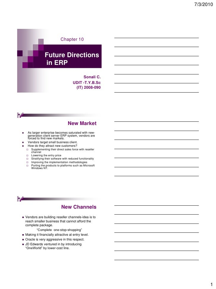 7/3/2010                                     Chapter 10                      Future Directions                    in ERP  ...