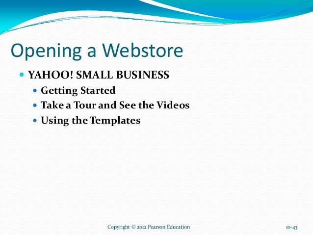 Launching a successful online business and ec projects 44 opening a webstore yahoo small business wajeb Images