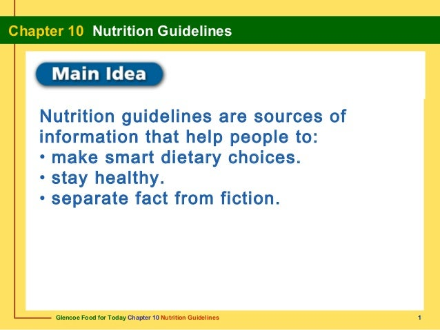 Chapter10 Nutrition Guidelines