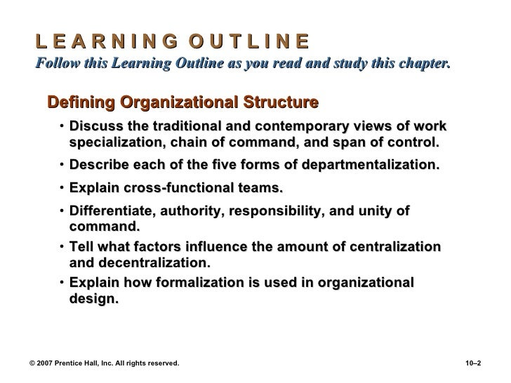 chapter 7 designing organizational structure Design 18 chapter 3: strategy, organization design and  effectiveness   chapter 4: fundamentals of organization structure   page 7 .