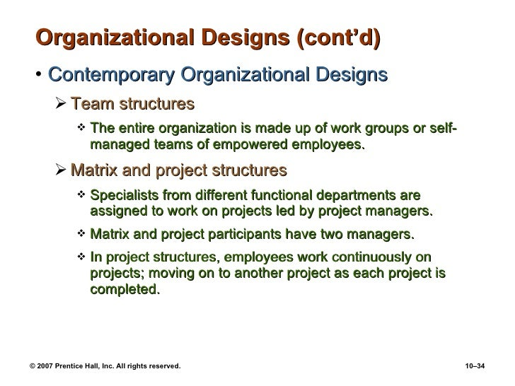 organizational design and structure essay Organizational design and structure question 1 yes an outsider can correctly discern the underlying cultural values by analyzing symbols, dress codes and other observable aspects up to 50% in comparison to an insider with several years of experience.