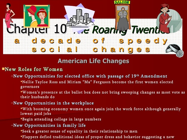 Chapter 10 the roaring twenties— a decade
