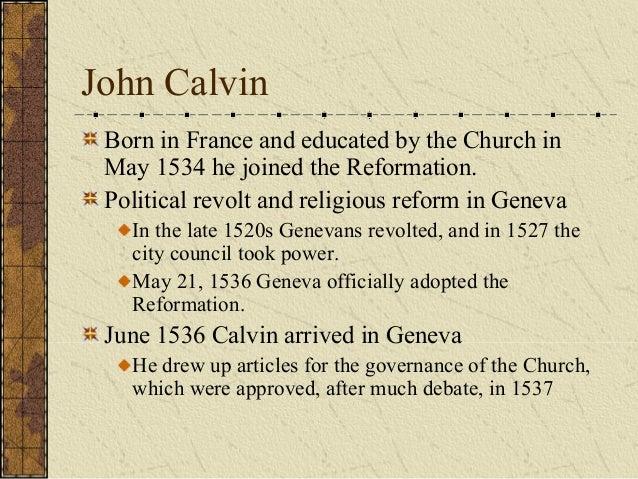 John Calvin City Council Of Geneva