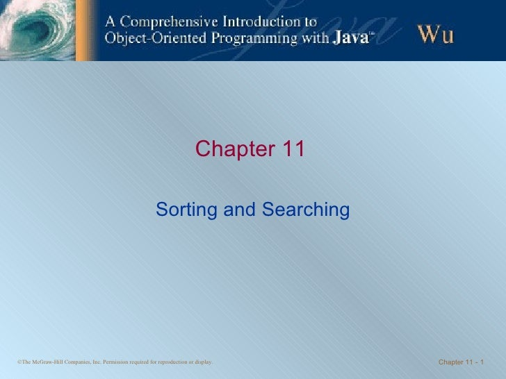Chapter 11 Sorting and Searching