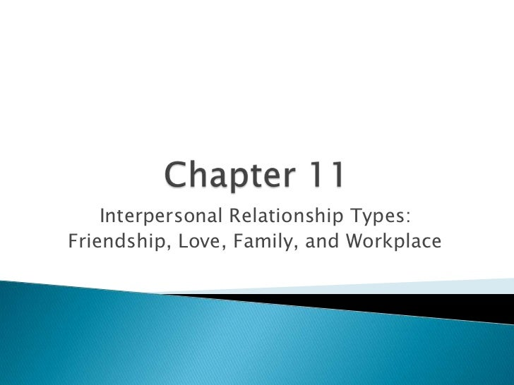 Chapter 11<br />Interpersonal Relationship Types: <br />Friendship, Love, Family, and Workplace<br />