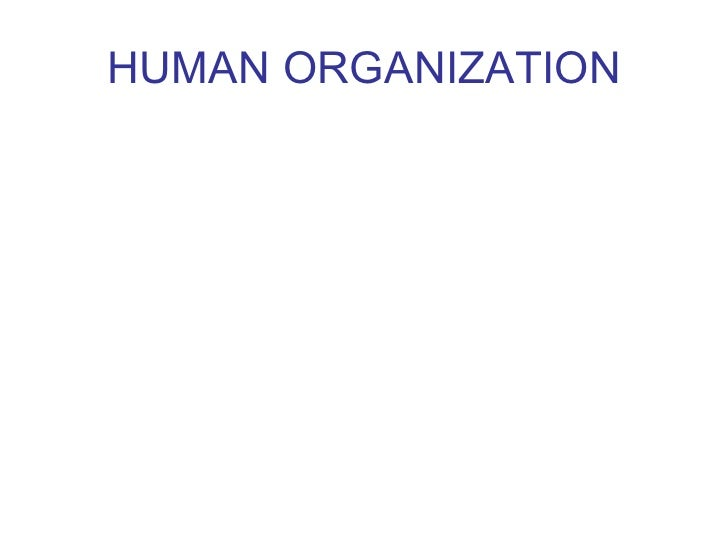 HUMAN ORGANIZATION