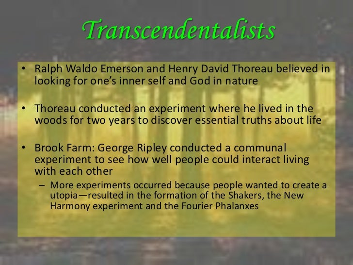 a description of transcendentalism as the new religion Historically, transcendentalism is a name for a loosely associated group of intellectuals, writers, and religious or social activists in new england in the 1830s-1850s who shared similar backgrounds, styles, and interests.