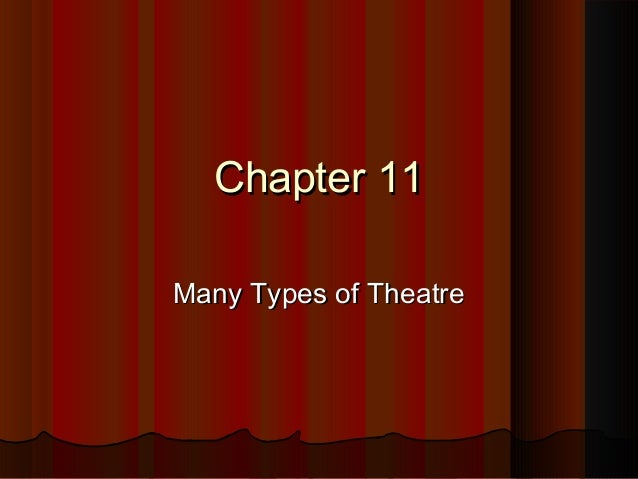 Chapter 11Chapter 11 Many Types of TheatreMany Types of Theatre