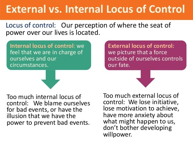 internal locus of control vs external On this episode of driving with john chow, i discuss external vs internal locus of control, and tell you which one is better to have.