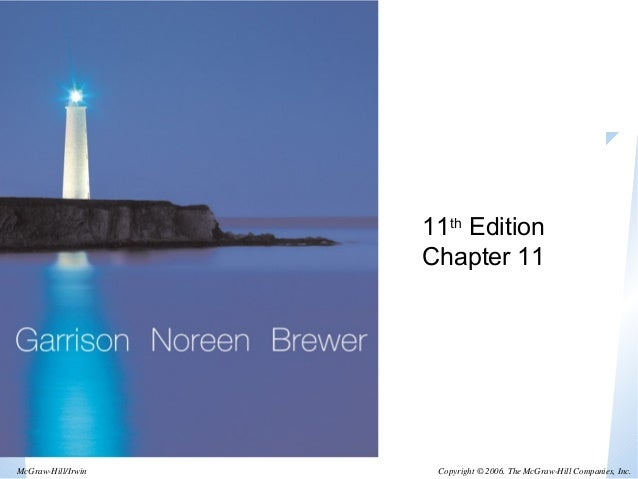 11th Edition  Chapter 11  Copyright © 2006. The McGraw-McGraw-Hill/Irwin Hill Companies, Inc.