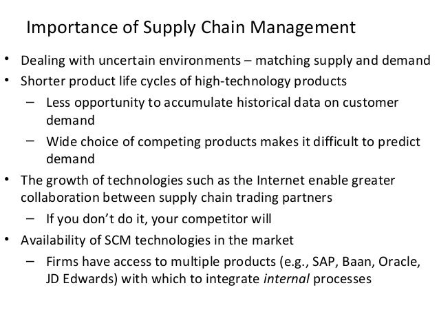 importance of supply chain management in The ripple effect: how manufacturing and retail executives view the growing  challenge of supply chain relationship management is a term.