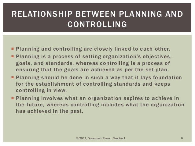 relationship between planning and controlling functions of management