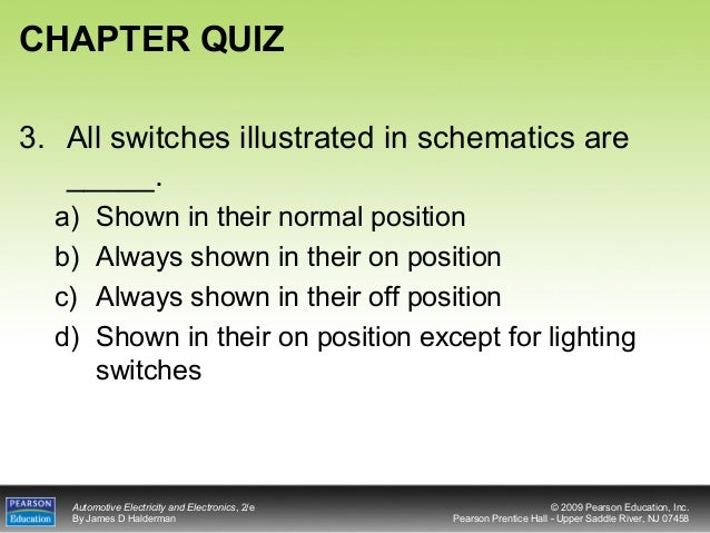 Chapter11 All Switches Illustrated In Schematics Are on