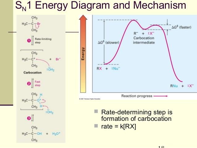 sn1 energy diagram