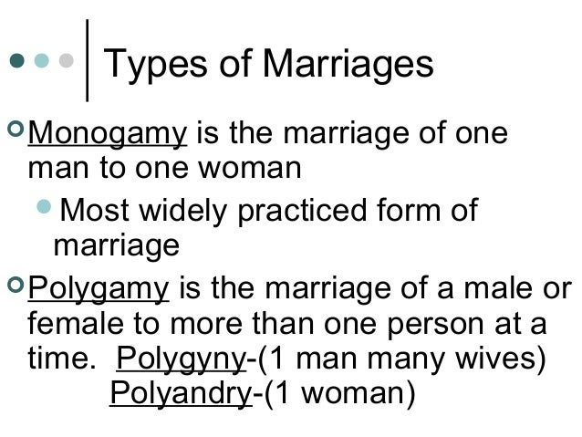 Types of marriage sociology