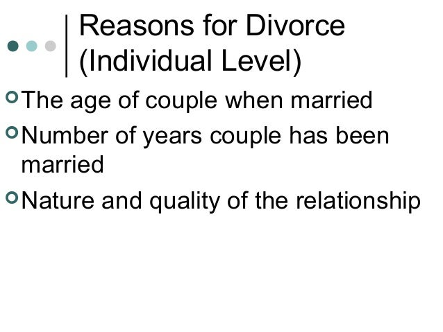 a sociological explanations for the divorce phenomenon in australia Divorce is of sociological significance for several sociological explanations for these trends focus on women's employment australia, finland.