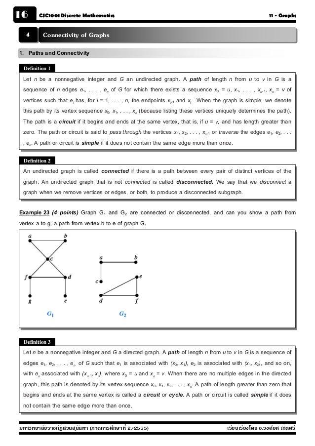 16      CSC1001 Discrete Mathematics                                                                          11 - Graphs ...