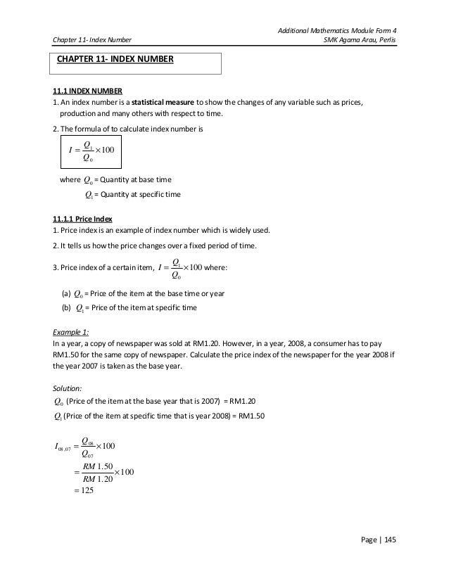 index number formula