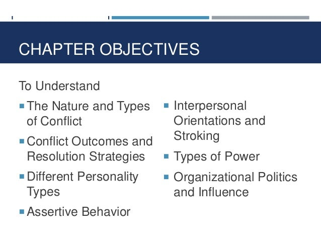 Strategies to Resolve Interpersonal Conflict.