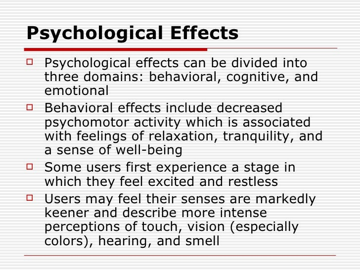 The psychological effects of marijuana essay