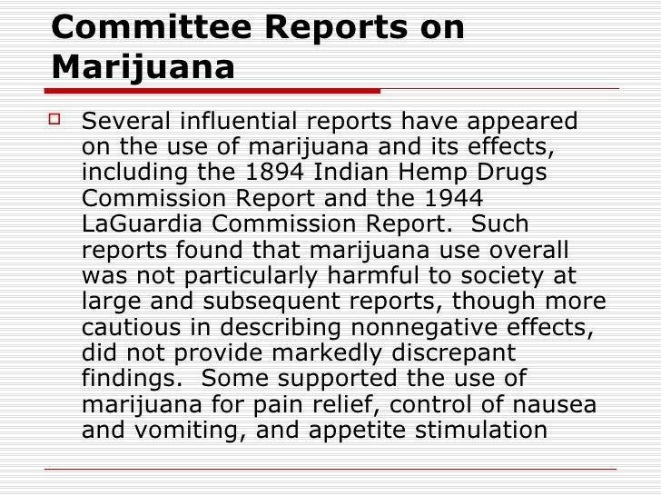 indian hemp drugs commission report pdf