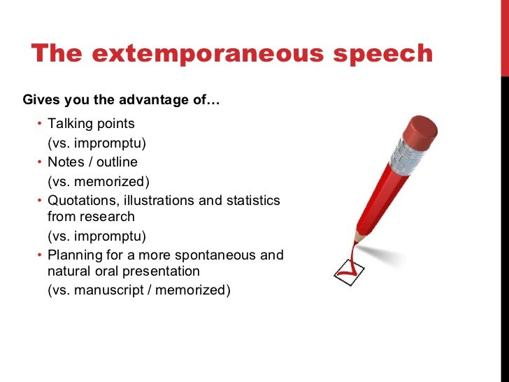 advantages of extemporaneous speech