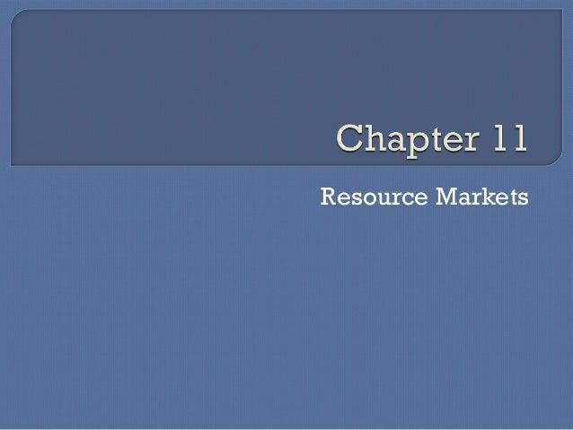 Resource Markets