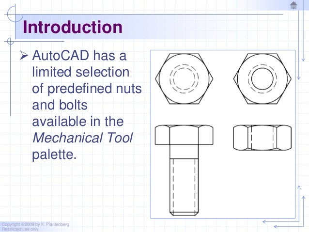 Chapter 11 threads in auto cad 2010