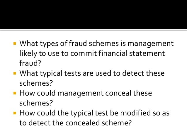 financial statement fraud schemes University of south florida scholar commons graduate theses and dissertations graduate school 2008 detecting financial statement fraud: three essays.