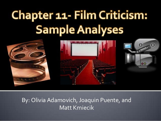 Chapter 11 Film Criticism