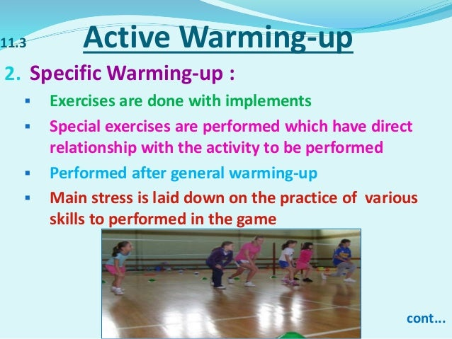 define warm up in physical education
