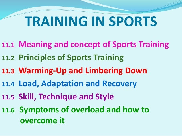 Chapter 11:Training in Sports Slide 3