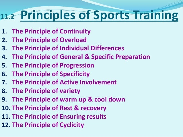 Chapter 11 Training In Sports
