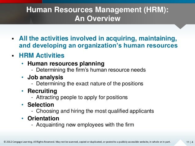 Chapter 11 Human Resources