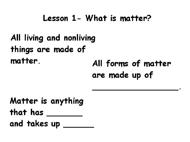 Chapter 11 lesson 1